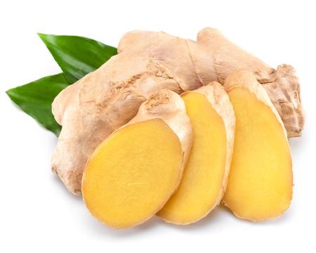 Fresh ginger isolated on white background