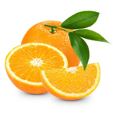 orange slice: Orange fruit isolated on white background. Clipping Path   Stockfoto