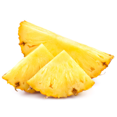 Pineapple slices isolated on white background Stok Fotoğraf - 23862780