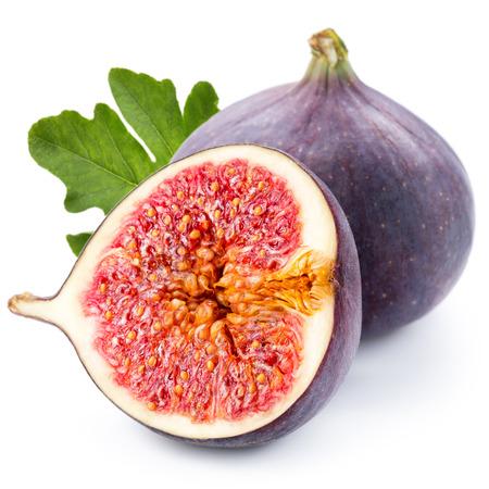 Figs fruits isolated on white background photo