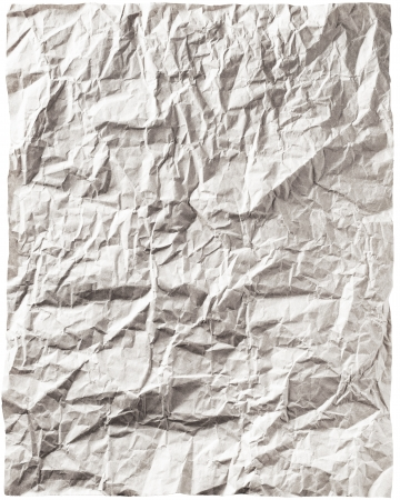 old white handmade crumpled paper texture background   photo