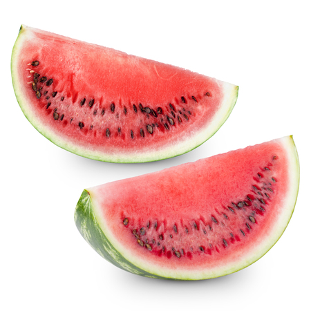 pulpy: Slice watermelon isolated on white background