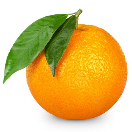 Orange isoliert auf weißem Hintergrund Standard-Bild