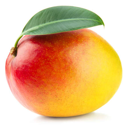 Mango-Frucht isoliert auf wei�em Hintergrund