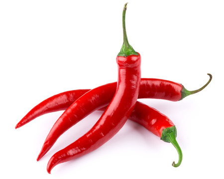 hot chili pepper isolated on a white