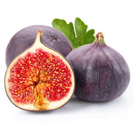 Figs fruits isolated on white background   Stock Photo