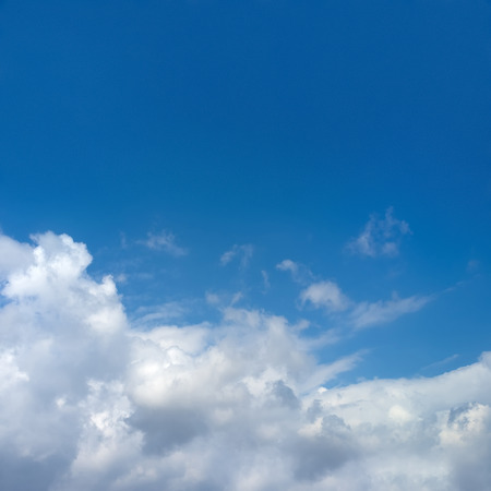 fleecy: Blue sky background massive clouds