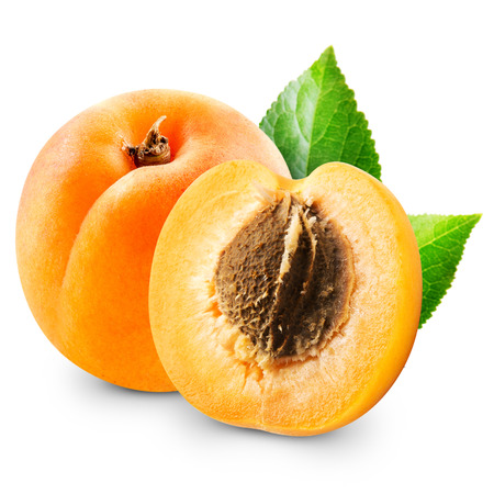 Apricot fruits isolated Stock Photo