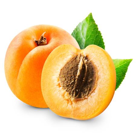 Frutas albaricoque aislados