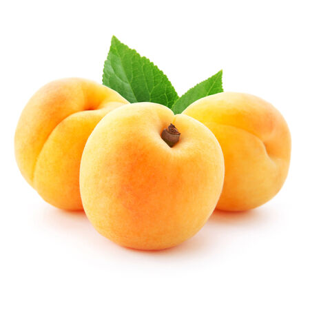 apricot jam: Apricot fruits isolated Stock Photo