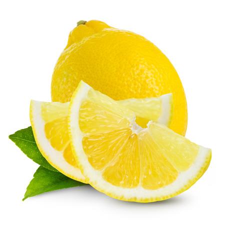 citroenen geïsoleerd Stockfoto