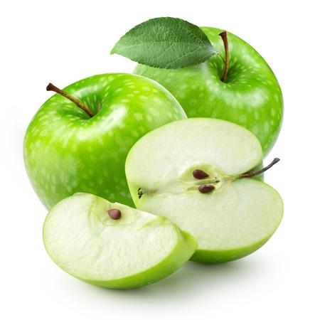 apple green: Green apple isolated Stock Photo