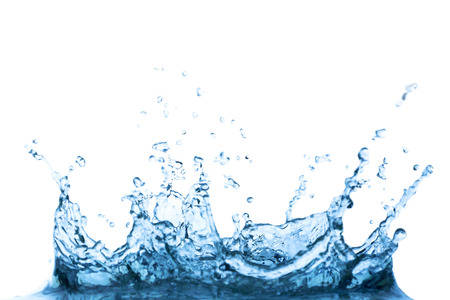Splash water isolated on white background.