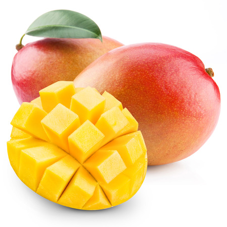 Mango-Frucht isoliert auf weißem Hintergrund Standard-Bild - 33388744