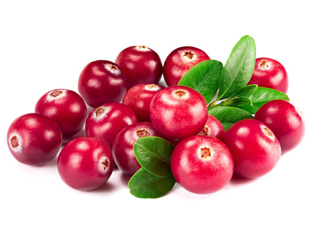 cranberries isolated on white