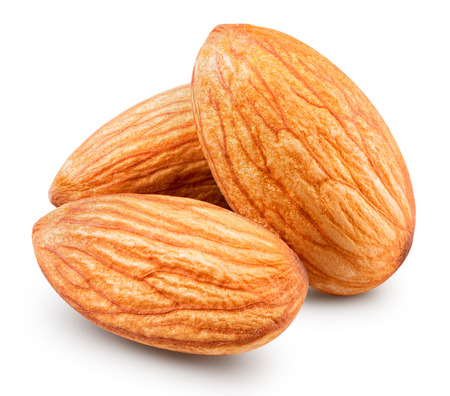 almonds nuts isolated Clipping Path Stock Photo