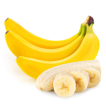 banana skin: bananas isolated Stock Photo