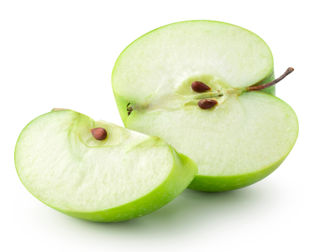 red green: Green apple isolated.
