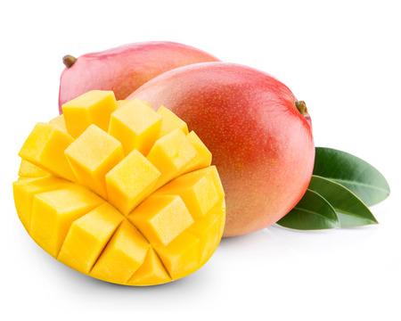 Mango-Frucht isoliert auf weißem Hintergrund Standard-Bild - 33982023