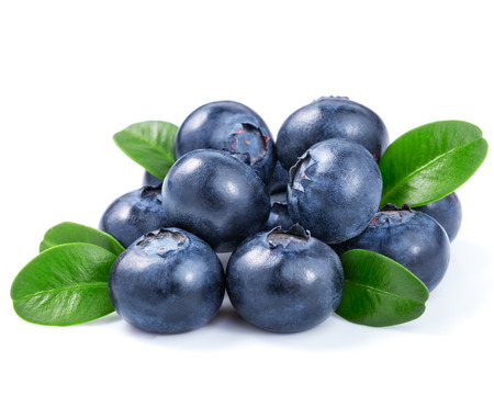 blueberries isolated Stock Photo