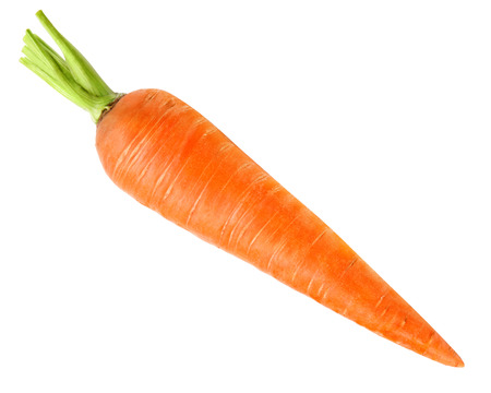 carrots isolated on white background Foto de archivo