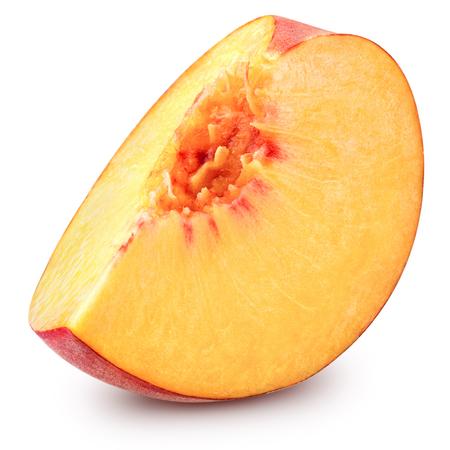 peach slice isolated on white background Stock Photo