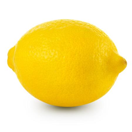 레몬 흰색 배경에 고립입니다. 클리핑 패스