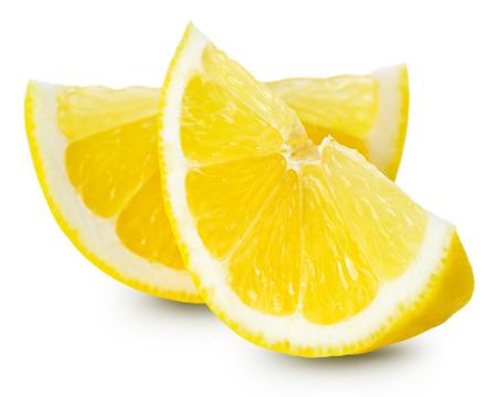 레몬의 절반 흰색 배경에 고립입니다. 클리핑 패스
