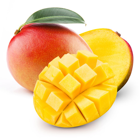 mango isolated Banque d'images