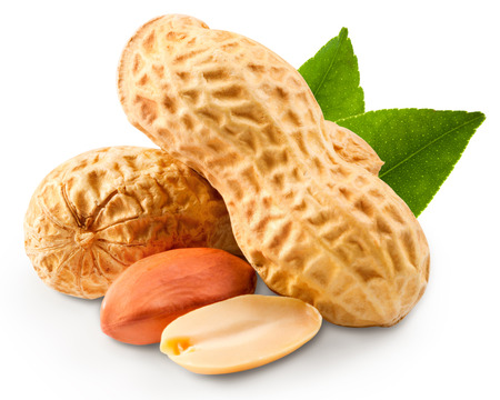 peanuts in closeup Stock Photo