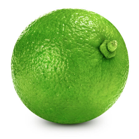 lime: lime fruit isolated closeup Stock Photo