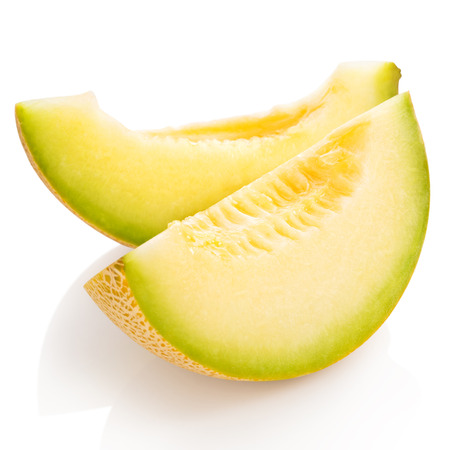 cantaloupe melon isolated on white Clipping Path