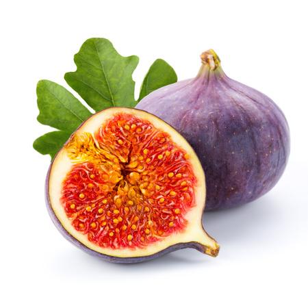 Figi owoce na białym tle Zdjęcie Seryjne