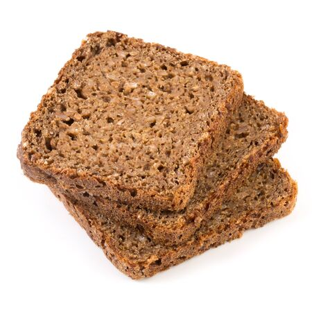 wholemeal: bread isolated on a white background