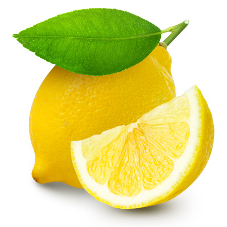 with lemon: lemon isolated Stock Photo
