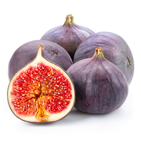 produce sections: Fruits figs on white background