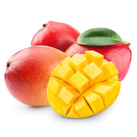 Mango Obst isoliert auf weißem Hintergrund Standard-Bild - 36429259