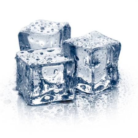Ice cubes isolated.