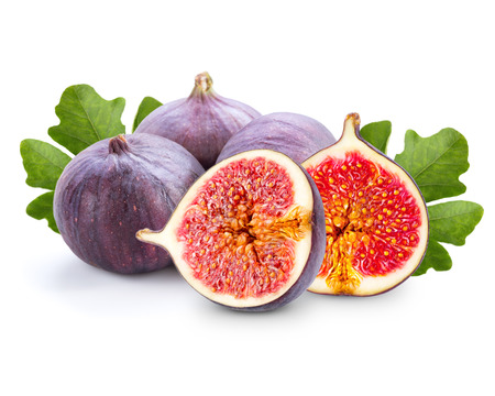 figs isolated in white