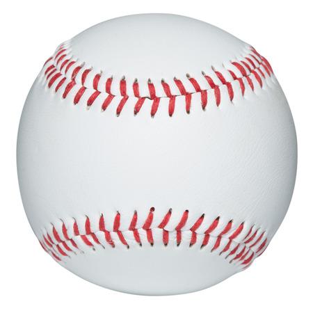 야구는 흰색으로 격리 스톡 콘텐츠
