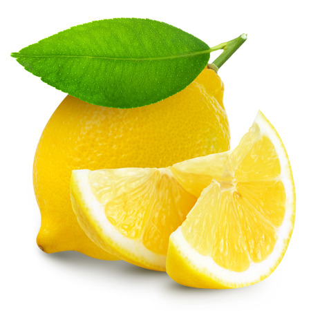 bitter fruit: lemon isolated in white