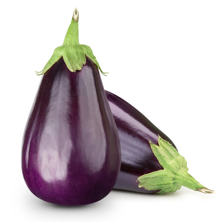 Eggplant isolated on white Banco de Imagens