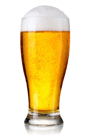 Glass of beer isolated Stock Photo