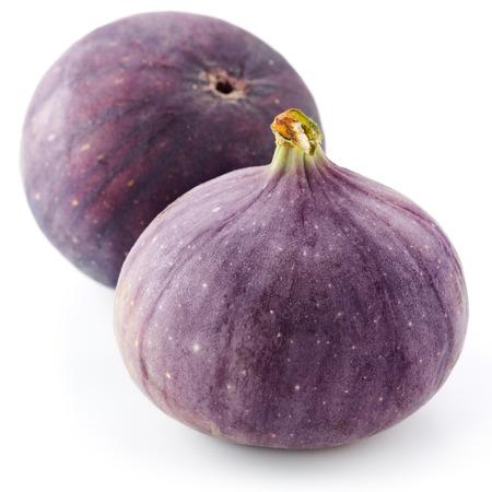 feuille de figuier: Fruits figues sur fond blanc