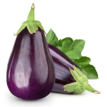 흰 배경에 고립 된 aubergine 스톡 콘텐츠
