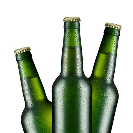 carlsberg: Beer bottle with drops isolated