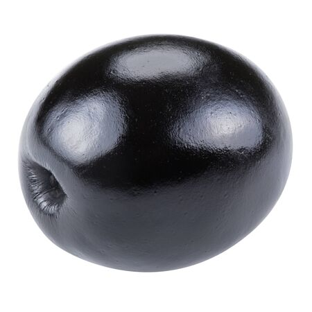 clipping  path: Black olives isolated Clipping Path