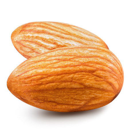 almonds nuts isolated Clipping Path photo