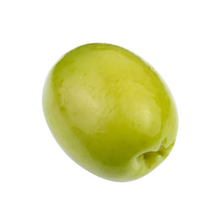clipping  path: green olives isolated. Clipping Path