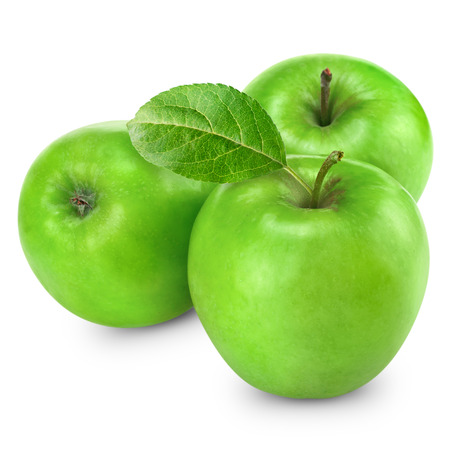 nt: Green apple isolated Stock Photo